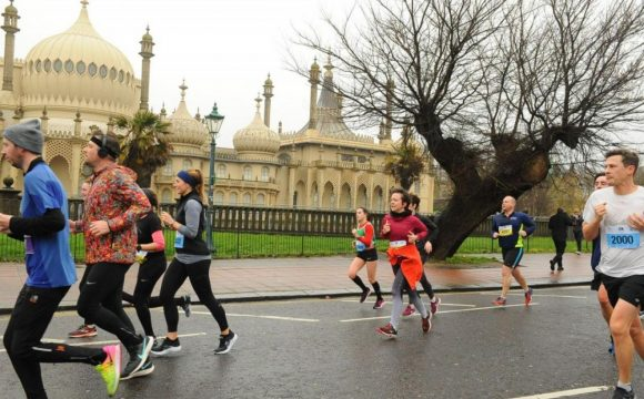 Brighton Half Marathon runner The Grand Hotel Brighton